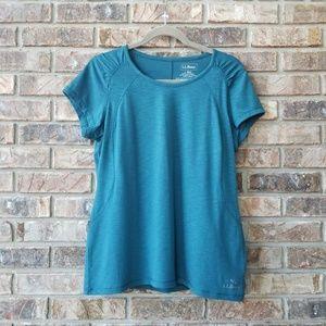LL Bean Trail Tee Performance Shirt Turquoise